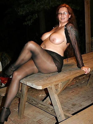 hairy grown-up near pantyhose porch