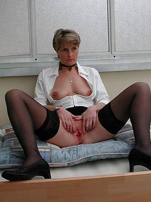 horny grown-up milf in stockings