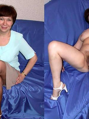 mature latitudinarian dressed and undressed porno pictures