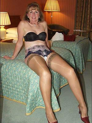 xxx pics of stockings on matures