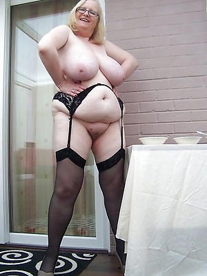 whorish matures in black stockings