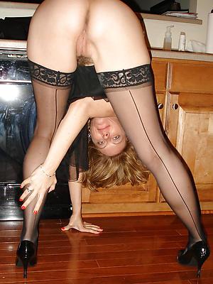 crazy mature woman stockings