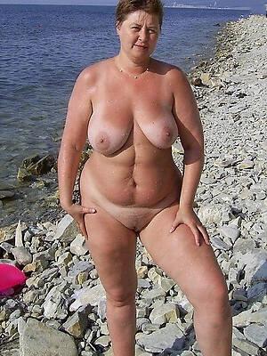 amazing mature women on beach