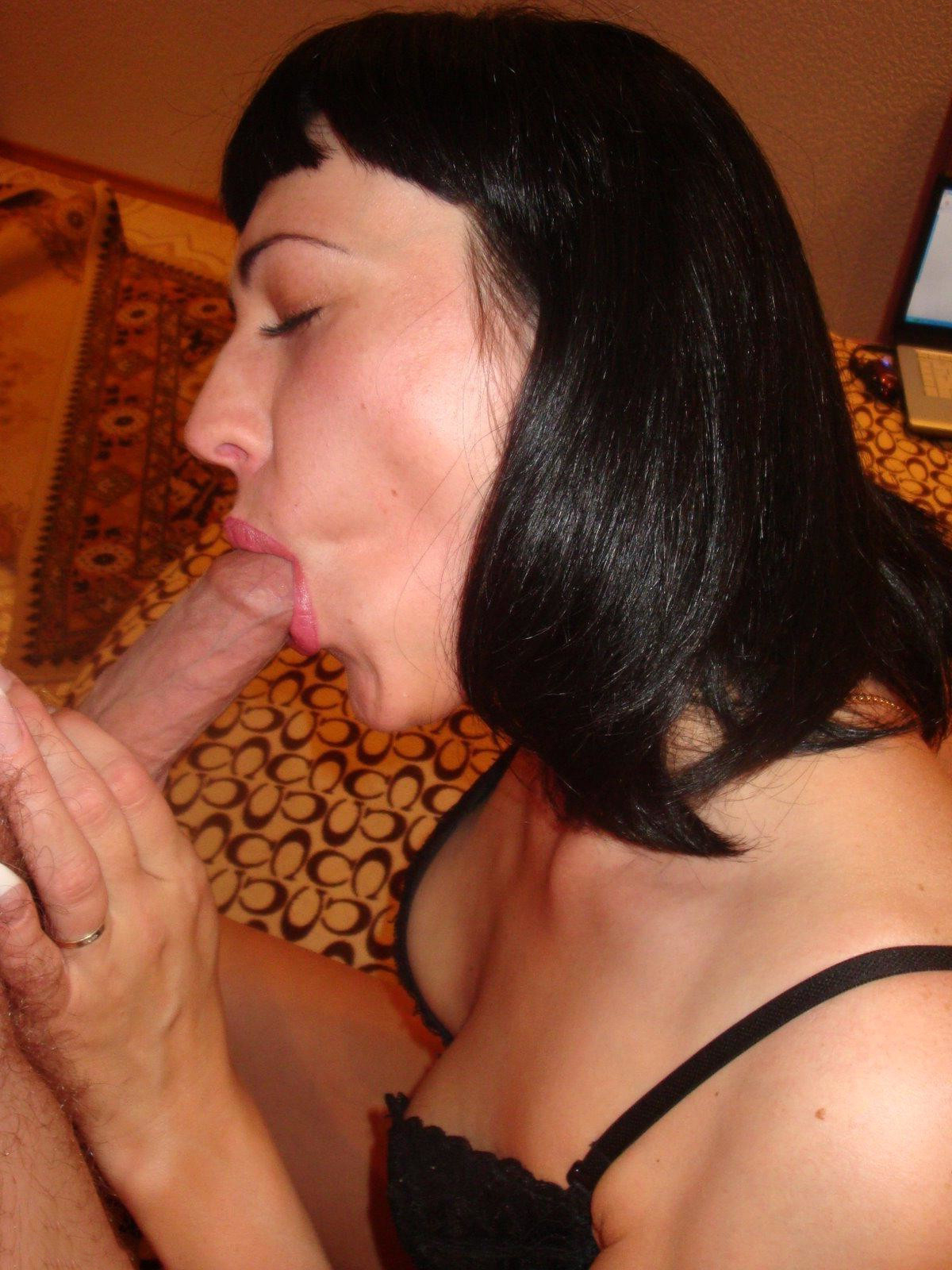 Wife Mature Sucks Black Cock
