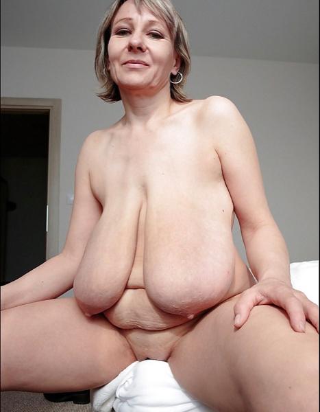 Mature Blonde Saggy Tits