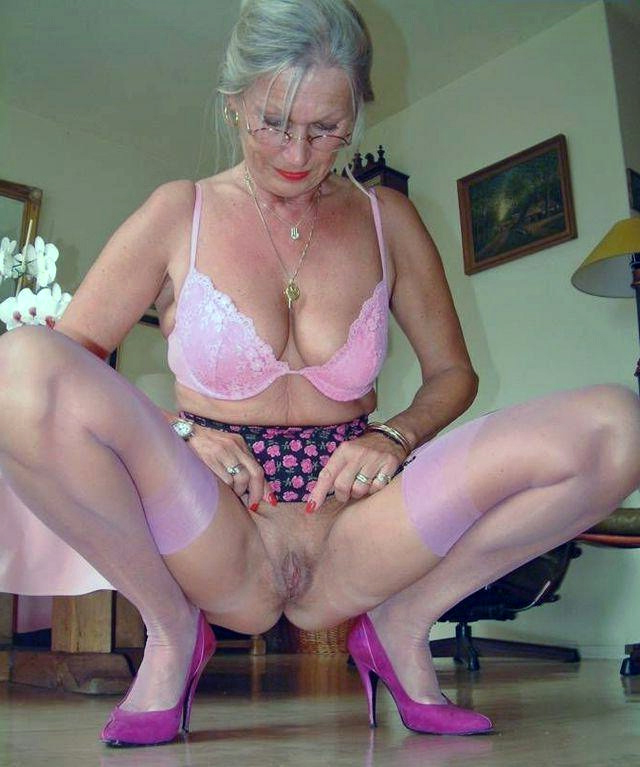Granny over mature moms