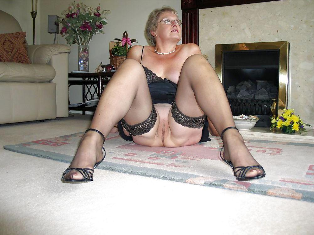 Blonde Mature Stockings Fuck